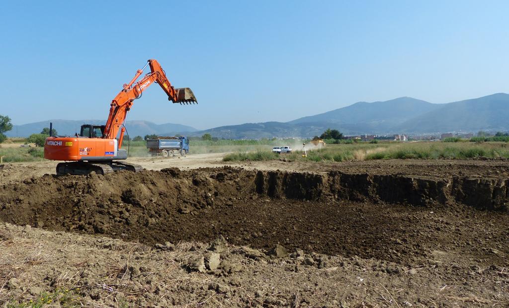 Inizio scavi (luglio 2013)